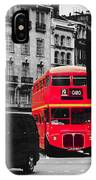 Red Bus IPhone Case