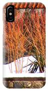 Red Bushes And Rock Wall IPhone Case