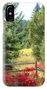 Red Bushes IPhone Case