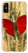 Red Butterfly In The Tall Weeds IPhone Case