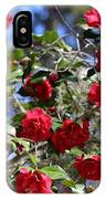 Red Camellias And Blue Sky IPhone Case