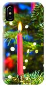 Red Candles In Christmas Tree IPhone Case
