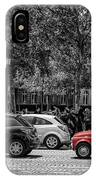 Red Car In Paris IPhone Case