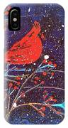 Red Cardinal Bird On Branch Painting Fine Art Print IPhone Case