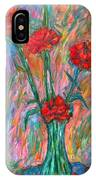 Red Carnation Melody IPhone Case
