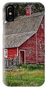 Red Country Barn IPhone Case