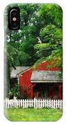 Red Farm Shed IPhone Case