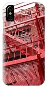 Red Fire Escape IPhone Case