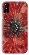 Red Flower 1 - Vibrant Red Floral Art IPhone Case
