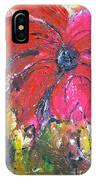 Red Flower - Abstract Painting IPhone Case
