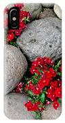 Red Flower In Rocks IPhone Case