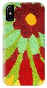 Red Flower Rug IPhone Case