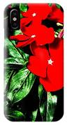 Red Flowers Among Green Leaves IPhone Case