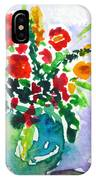 Red Flowers In A Vase IPhone Case