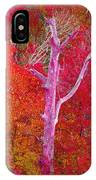 Pink Tree In A  Red Forest IPhone Case