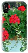 Red Geranium 1 IPhone Case