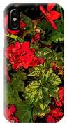 Red Geranium Line Art IPhone Case