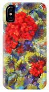 Red Geraniums II IPhone Case