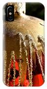 Red Gold Glitter IPhone Case