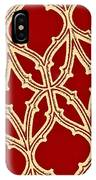 Gothic Pattern On Red IPhone Case