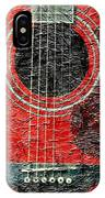 Red Guitar Center - Digital Painting - Music IPhone Case