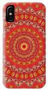 Red Gum Flowers Mandala IPhone Case