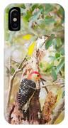 Red Headed Woodpecker IPhone Case