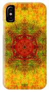 Red Heart Sun Rainbow Mandala IPhone Case
