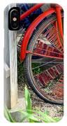 Red Hippie Bike Front Wheel IPhone Case