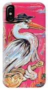 Red Hot Heron Blues IPhone Case