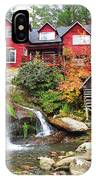 Red House By The Waterfall IPhone Case