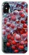 Red Ice Berries IPhone Case