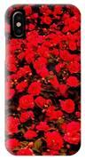 Red Impatiens Flowers IPhone Case