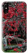 Red In Fall IPhone Case