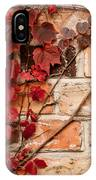 Red Ivy Leaves Creeper IPhone Case