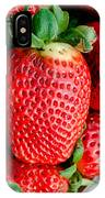 Red Juicy Delicious California Strawberry IPhone Case