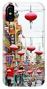 Red Lanterns Of Chinatown IPhone Case