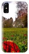 Red Leaf Under The Hot Autumn Sun  IPhone Case