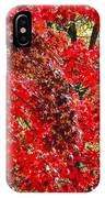Red Leaves 3 IPhone Case