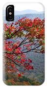 Red Leaves In The Blueridge IPhone Case