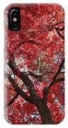 Red Leaves On Tree IPhone Case