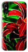 Red Lilies Expressive Brushstrokes IPhone Case