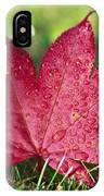 Red Maple Leaf And Dew IPhone Case