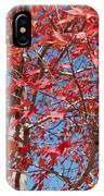 Red Maple Leaves  IPhone Case