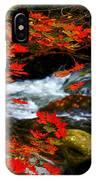 Red Maple Stream  IPhone Case