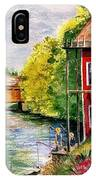 Red Mill At Waupaca IPhone Case