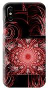 Red Neon Collage IPhone Case