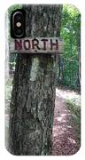 Red North Sign IPhone Case