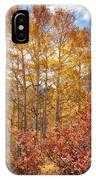 Red Oak Brush And Golden Aspens IPhone Case