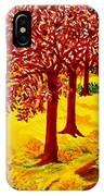 Red Oaks  Pop Art IPhone Case